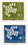 Germany 1961 Postage Stamp Set CEPT Europa Dove Made Of 19 Doves Issue Scott #1281-1282