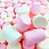 100% Natural Coloured Marshmallows Pink White Tubes (1 Kilogram) Large Fluffy and Tasty by Hoosier...