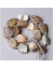 IASHNPIN Kryształ szorstki 7,5 cala naturalny nieregularny kamień surowy lapis lazuli ametyst 2-3 cm minerał cytrines smoky kryształ Nugget perły biżuteria (kolor: 11.Lemon Jade)