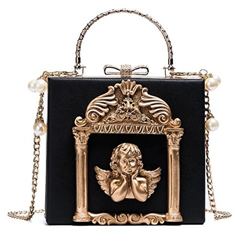 Lolita Partiss Sweet Womens Black Gothic Baroque Vintage Style Bag Hw6YqOaw