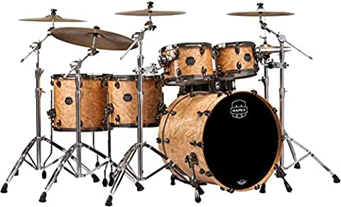 Mapex Saturn V Exotic Edition 5-Piece Studioease Shell Pack Natural Maple Burl (Mapex Saturn 7 Piece)