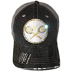 Baseball Trucker Cap With Swarovski Crystal Rhinestone
