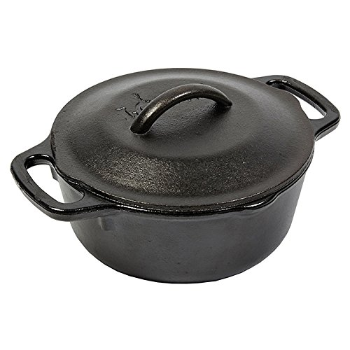 Lodge Round Cast Iron Serving Pot, 1 Quart -- 1 each.