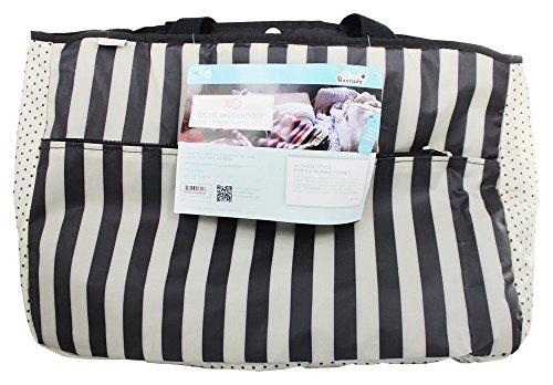 Stripe Conrad - xo(eco) Weekender Oversized Travel Bag, Black/Cream Tuxedo Stripe