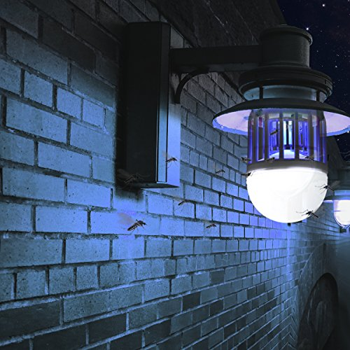 Bug Zapper Light Bulb 2 in 1 Pest Repellent, Mosquito Killer Lamp, Fly Killer, Electronic Insect Light Trap for Home Indoor Outdoor Porch Patio Garden White by Mothga (Image #4)