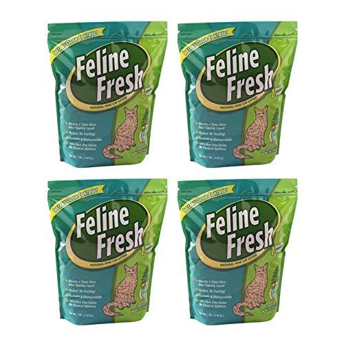 Feline Fresh Natural Pine Cat Litter, 7-lb, 4 Pack