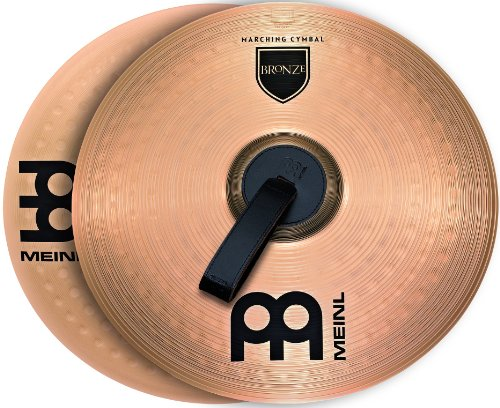 "- Meinl 16"" Marching Cymbal Pair with Straps - Bronze Alloy Traditional Finish - Made In Germany, 2-YEAR WARRANTY (MA-BO-16M)"