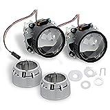 """Nilight 2.5"""" Mini HID Bixenon Projector Lens for H1 Bulb Car Gift:chrome Shround"""