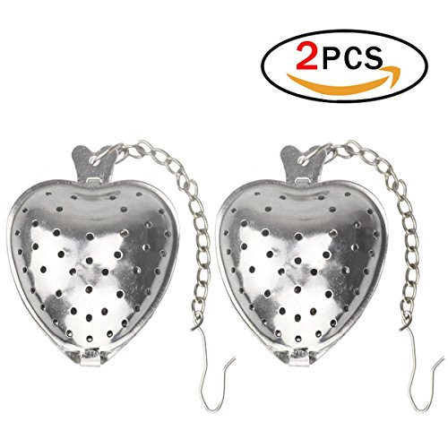 Tea Infusers Set of 2 Strainer for Tea Heart Shaped Tea Infuser