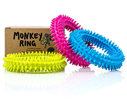 Spiky Sensory Ring/Bracelet Fidget Toy (Pack of 3) - BPA/Phthalate/Latex-Free - Fidget Toys/Sensory Toys