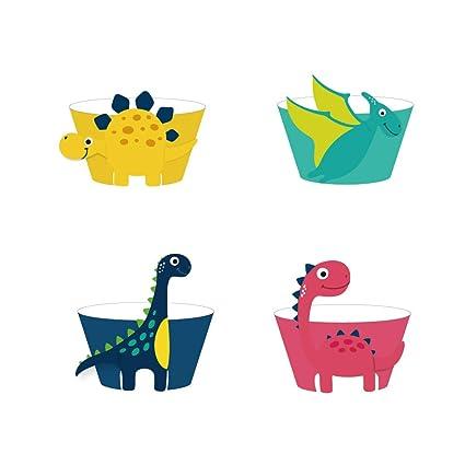 CC HOME Dinosaur Themed Birthday Decorations SuppliesFossil Jurassic T REX Dino Jungle Animal