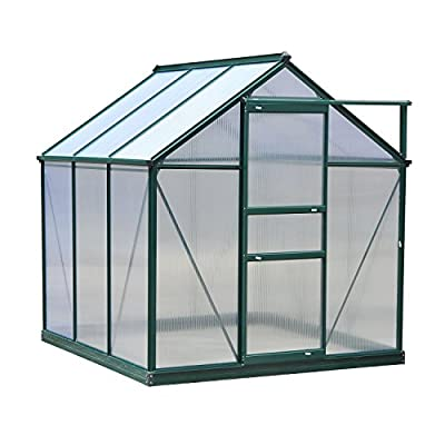 Outsunny Polycarbonate Portable Walk-in Garden Greenhouse from Outsunny