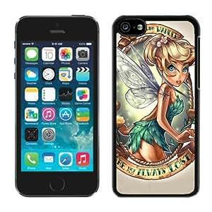 Lovely Tinkerbell Black Cool Photo Custom iPhone 5C Phone Case