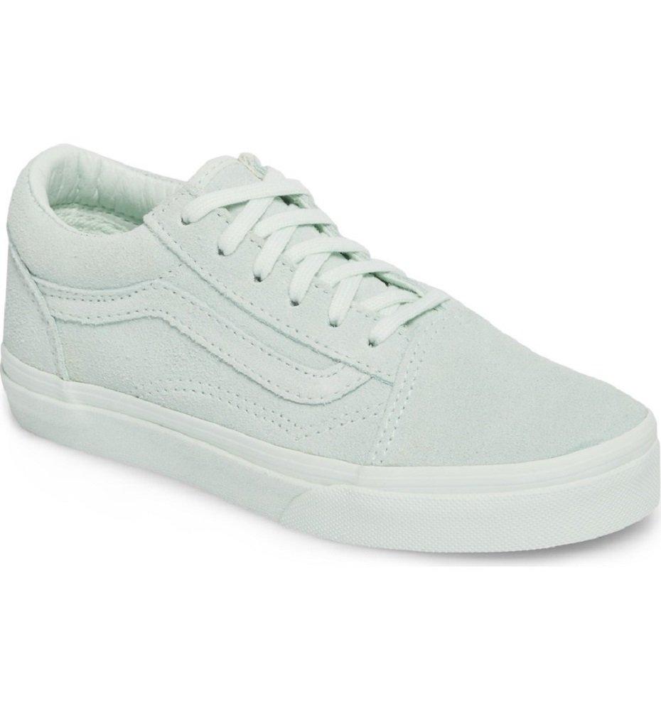 Vans Old Skool Suede Mono Aqua Glass Kids Shoes 12.5