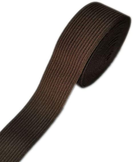 3-Yards Gourd Colored Woven Elastic Band Brown, 3-Inch