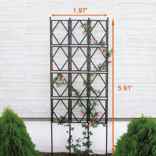 EcoTrellis Valla desmontable para plantas trepadoras, soporte de enrejado de jardín para pepino, tomates y otras plantas, color negro: Amazon.es: Jardín