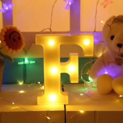 F 3D 26 Letter Alphabet LED Marquee Sign Light Indoor Wall Hang Night Lamp