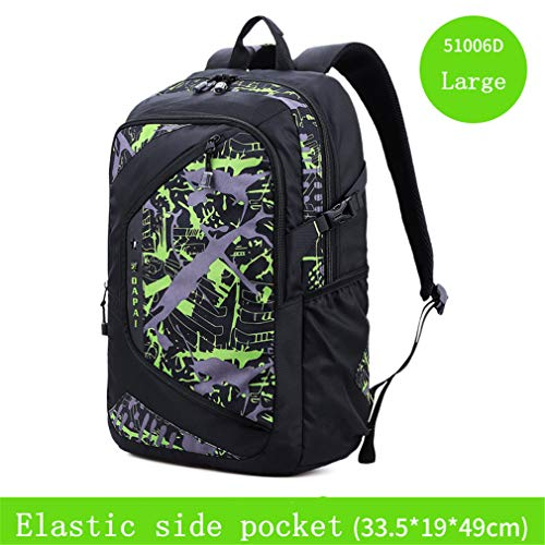 Bag Travel School Student Backpack Green Large Large Bag Travel Capacity Male nw0p0qP8gR