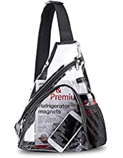 Clear PVC Sling Bag-Stadium Approved Transparent Crossbody Backpack for Women & Men, See Through Backpack Perfect for Cycling Travel, Stadium and Concerts