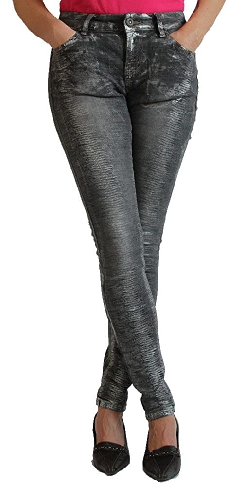 Blue Monkey Damen Jeans Honey 1066 Skinny: