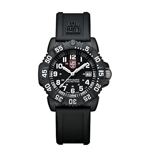 Luminox Men's A.7051 Color Mark Analog Display Swiss Quartz Black Watch by Luminox