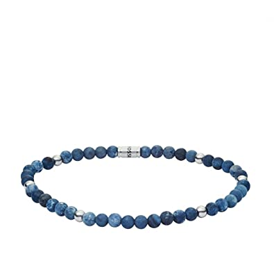 Fossil Men's Multicolour Wrap Bracelet JF02830040 yye4a8jJ9x