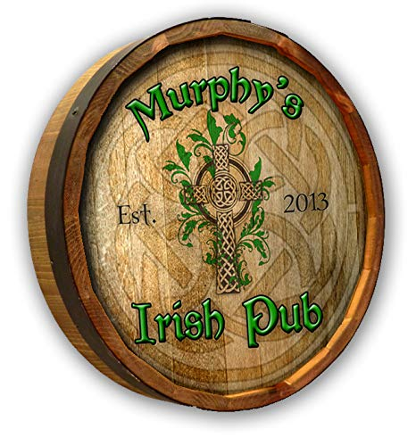 Personalized Irish Pub Quarter Barrel Sign ()