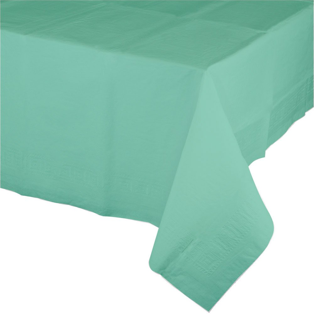 Creative Converting 324480 12-Count Celebrations Plastic Table Covers Fresh Mint Green,