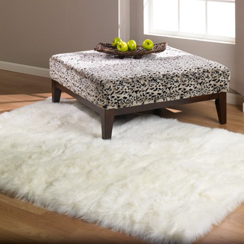 white fur shag rug. Amazon.com: Softest French White Sheepskin Faux Fur Shag Rug Feels \u0026 Looks Real, Without Animal Cruelty. Perfect For Photographers Designers Your Bedroom 2