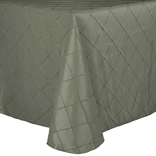 roidered Pintuck Taffeta 90 x 120-Inch Rectangular Tablecloth with Rounded Corners Aspen Mist ()