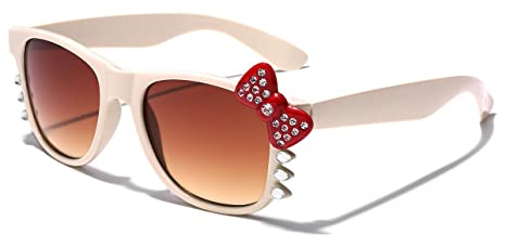 091b6bb20 Image Unavailable. Image not available for. Colour: Hello Kitty Bow Women's  Rhinestone Fashion Glasses ...