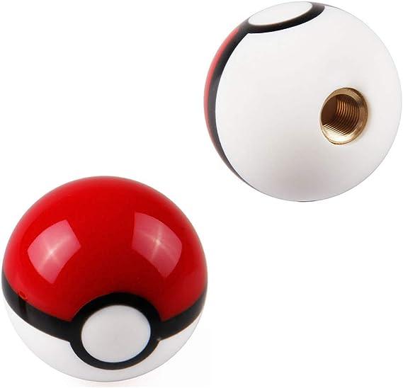 Jingling 54 Mm Pokemon Pokeball Ball Schaltknauf Stick Schaltknauf Kunststoff Mt At Schaltknauf Kopf Universal Custom Car Zubehör 3 Arten Adapter 1 Stück Auto