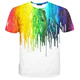 Hgvoetty Unisex Stylish Casual Design 3d Colored Printed Short Sleeve T Shirts Tees S