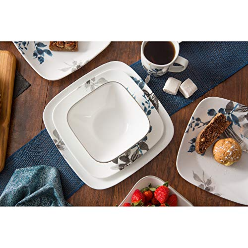 Corelle Boutique Square Kyoto Night 16-Piece Dinnerware Set, Service for 4 by Corelle (Image #6)