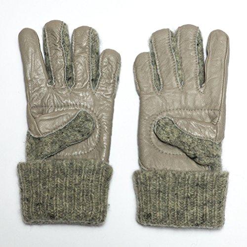Dachstein Woolwear Leather Trim Wool Gloves, size 7.5, Grey