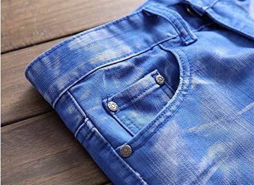 Hle Cowboy Classico Originale Alla Moda Da In Toro Dritto Blau Cotone Ssig Colore Comodo Uomo Slim Marchio Tide Rbt Jeans Battercake Nativity nawB8YUq8