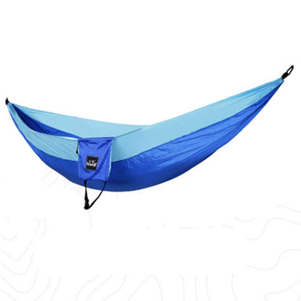 YXCXC Outdoor Doppel Fallschirm Tuch Hängematte Freizeit Outdoor Picknick Mahlzeit Schaukel Camping Anti-Moskito-Hängematte