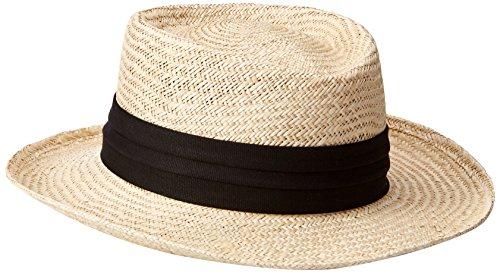 Tommy Bahama Men's Palm Fiber Gambler Hat, Black, Large/Extra Large -
