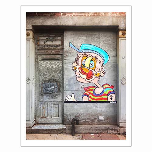 - Contemporary Urban Art Print - New York Street Art, Iconic, Comic, Pop Art, Portrait; Certified Reproduction of Original Artwork by Artist DeJerb, Size 11 x 14 Inch