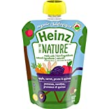 Heinz By Nature Organic Baby Food - Apple, Carrot, Prune & Quinoa Purée - 128mL Pouch (Pack of 6)