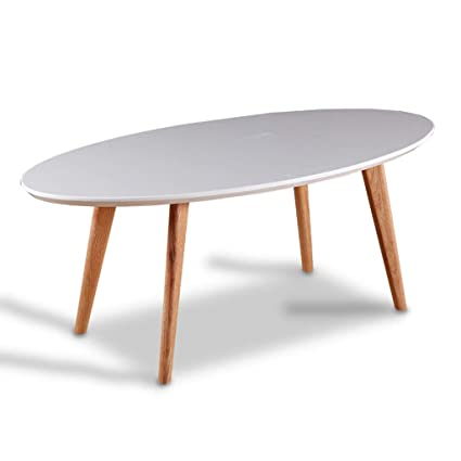 Small Coffee Table Living Room White Coffee Table Low Table Oval White Table  (Color :
