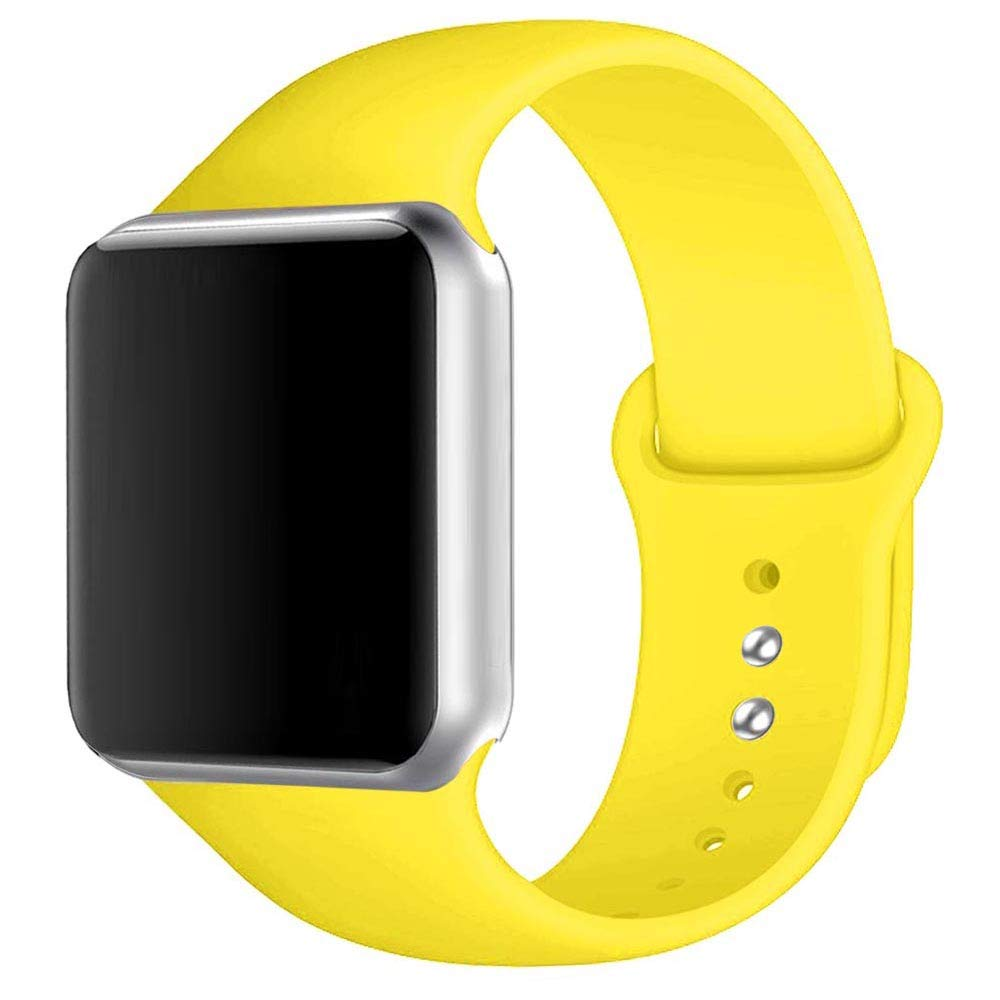 Winso Silicone Watch Band 38mm 40mm 42mm 44mm S/M M/L for Series 4/3/2/1 Yellow 42(44) mm M/L