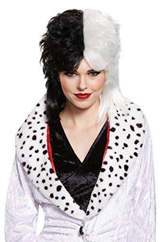 Disney Women's Cruella De Vil Deluxe Adult Wig, Multi, One -