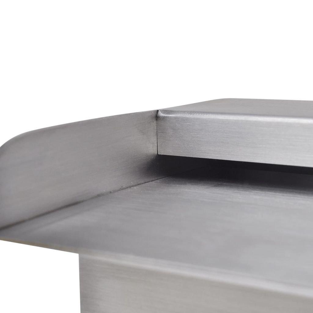 Vidaxl Fuente Rectangular Con Leds Piscina Acero Inoxidable 30cm - Estanque-rectangular