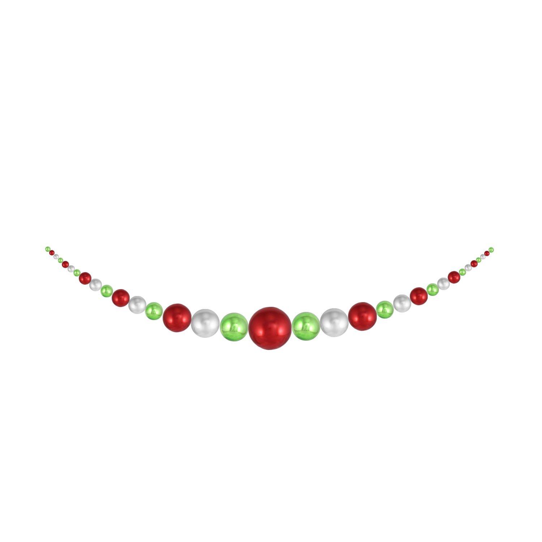 Christmas By Krebs CBK55008 True Love/Limeade/Looking Glass 11.5' Shatterproof Hanging Garland 1Piece/Case