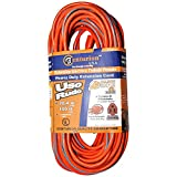 Centurion 12/3 Heavy Duty Indoor Outdoor Extension Cord - Orange and Blue (100 feet)