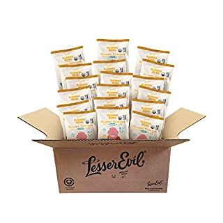 LesserEvil Organic Popcorn, Classic Cheddah, .88 Ounce, 18 Count