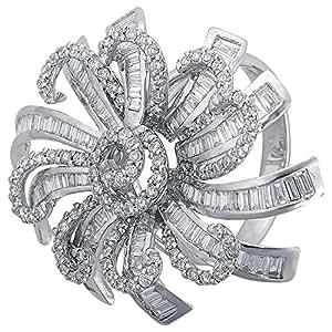 Verona Women's 18K Pure Gold Diamond Ring - 8.0