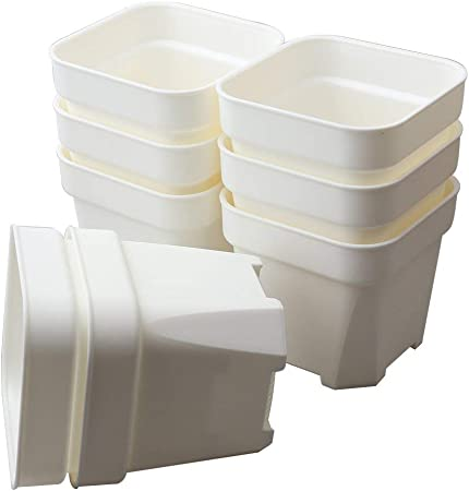 10 Large White Square Plant Pot Markers Seedling Cutting Grow Room Plastic Label