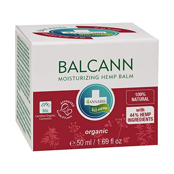 Annabis Balcann Organic Hemp Balm – Comprehensive Skin Care with a High Content of Omega 3 & 6 Fatty Acids – 50ml